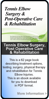 Treasure trove on information about elbow surgery for laymen.
